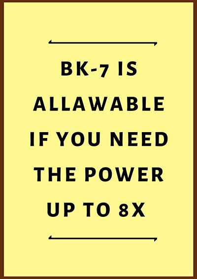 BK-7 is allawable